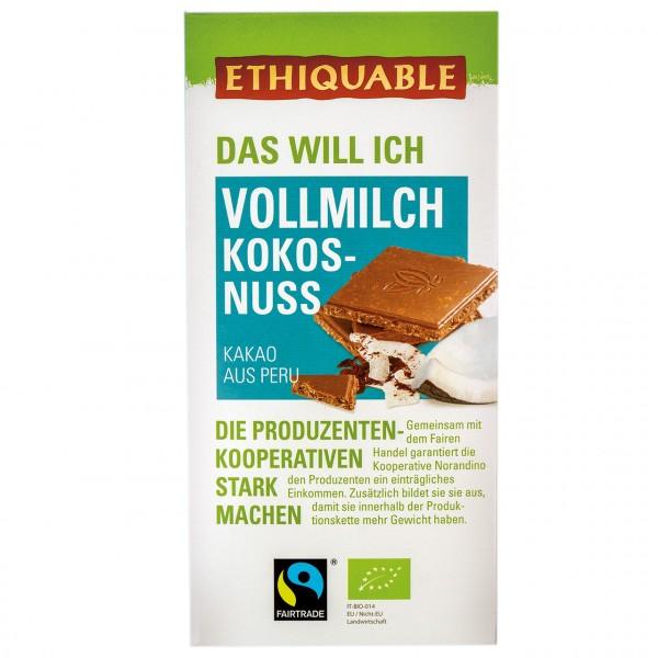 Vollmilch Schokolade Kokosnuss