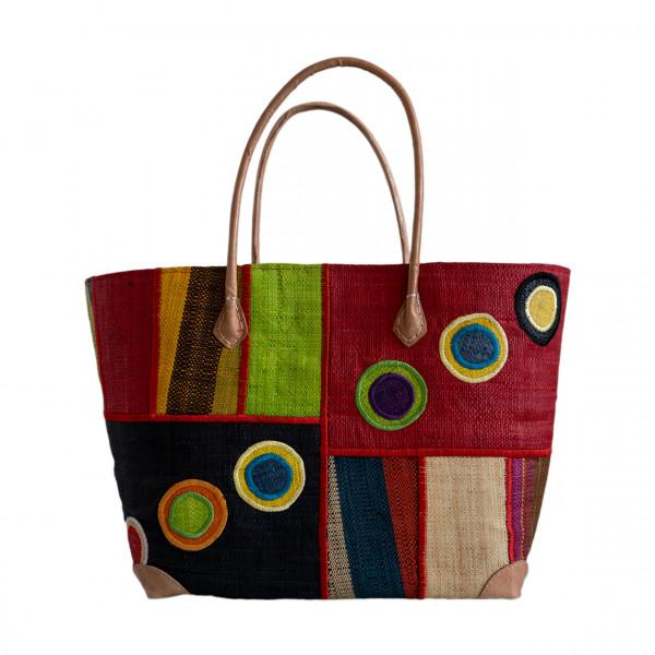 Einkaufstasche Kreise / Rechtecke