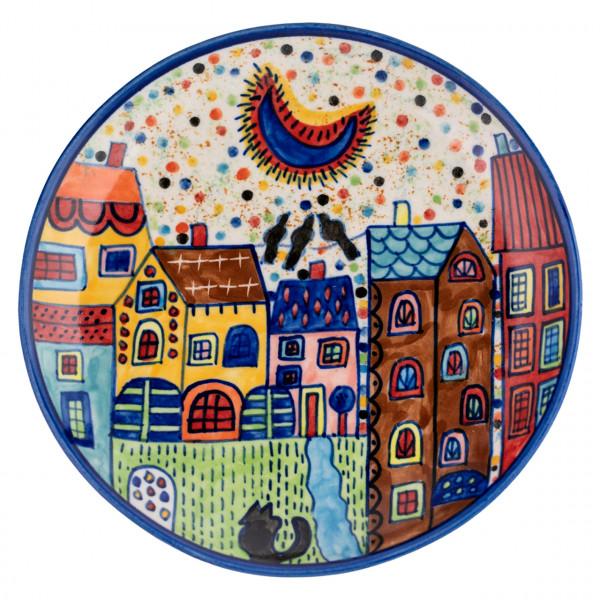 Teller Village blau