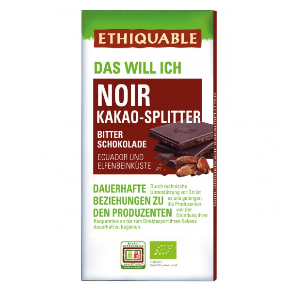 Zartbitter Schokolade Kakao-Splitter