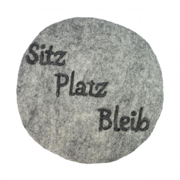 """Filzkissen """"Sitz Platz Bleib"""""""