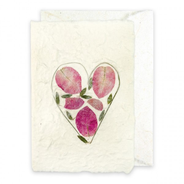 Grußkarte Maulbeerbaumpapier