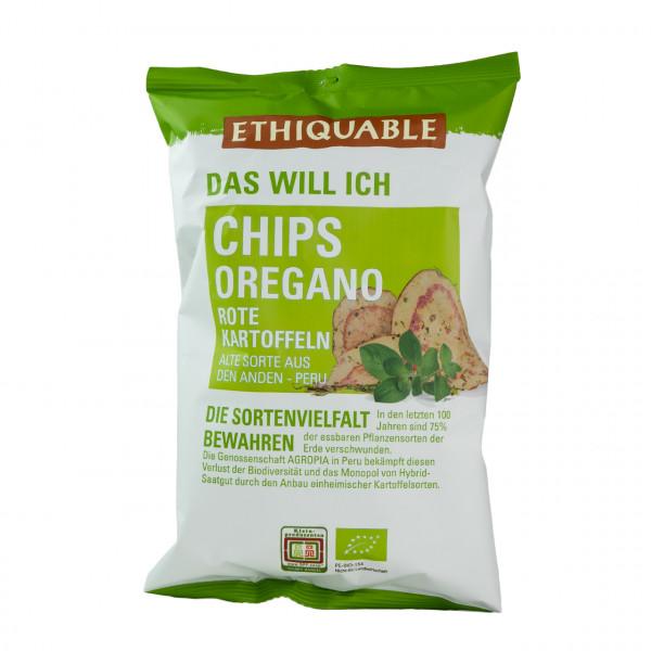 Rote Kartoffelchips Oregano