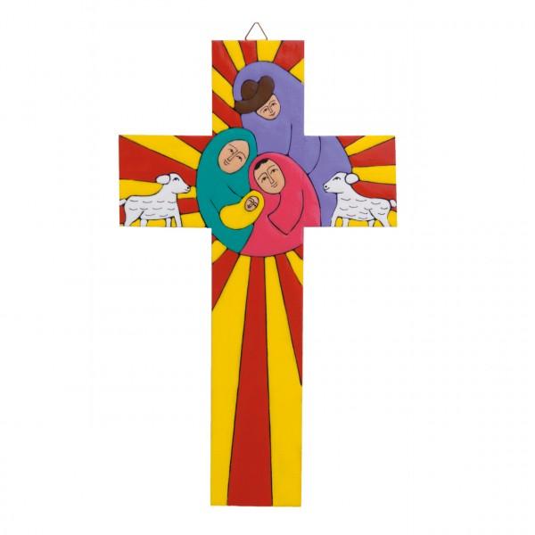 Kreuz Heilige Familie im Strahlenkranz