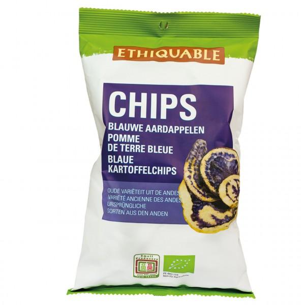 Blaue Kartoffelchips