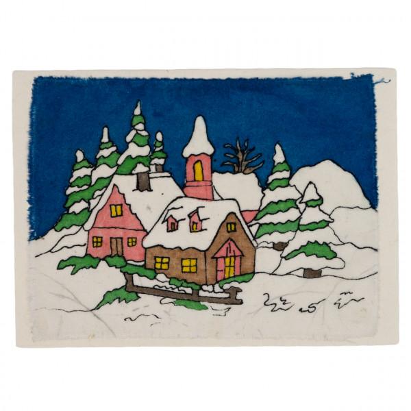 """Grußkarte """"Dorf im Schnee"""""""