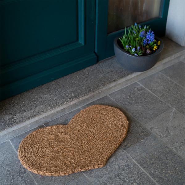 Fußmatte Großes Herz natur