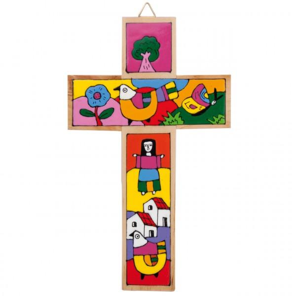 Kreuz bemalt traditionell