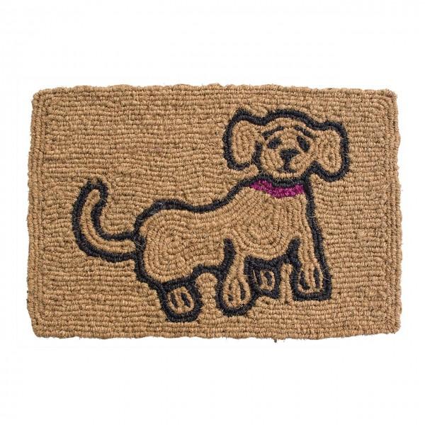Fußmatte Hund gerahmt