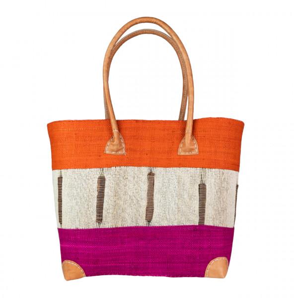 Einkaufstasche Cinnamon 3 Querstreifen