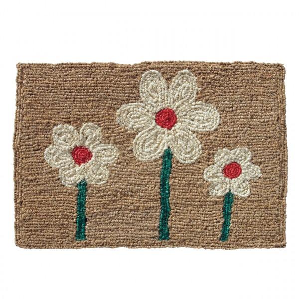 Fußmatte Drei Blumen