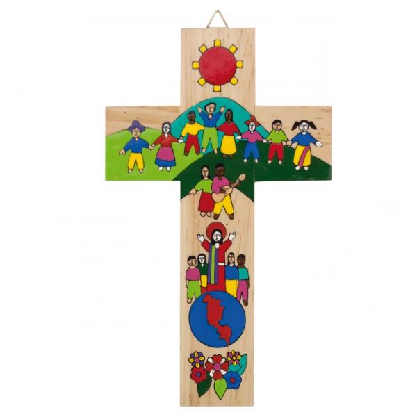 Kreuz Jesus mit Kindern der Welt