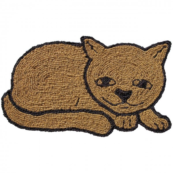Fußmatte Katze auf der Lauer
