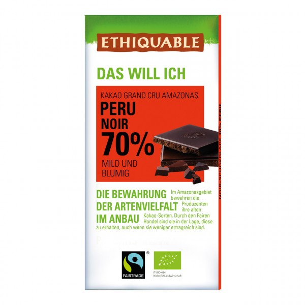 Zartbitter Schokolade 70 %
