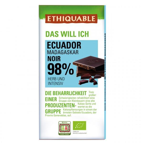 Zartbitter Schokolade 98 %