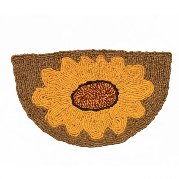 Fußmatte Halbmond Sonnenblume