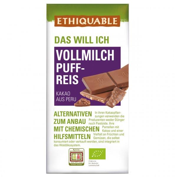 Vollmilch Schokolade Puffreis