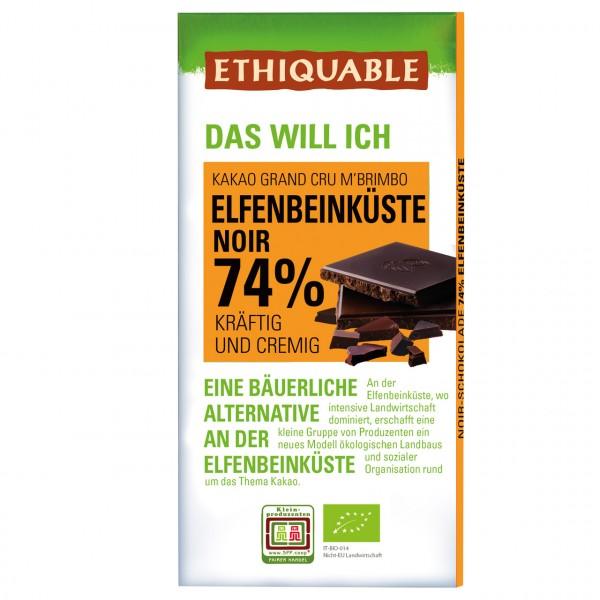 Zartbitter Schokolade 74 %
