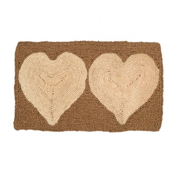 Fußmatte Zwei Herzen